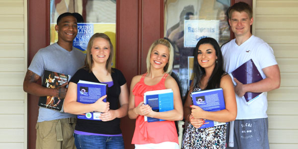 Students Outside the Day Room